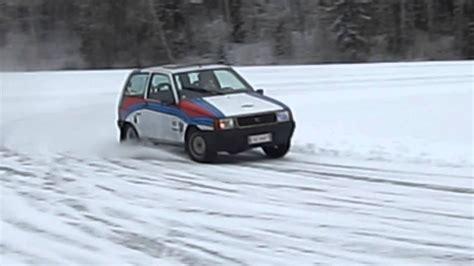 Lancia Y10 turbo on ice - YouTube