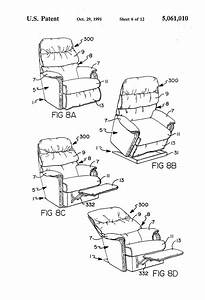 57 Lazy Boy Recliner Mechanism Diagram  Patent Us3096121