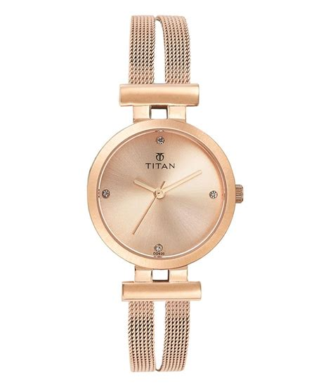 titan ladies rose gold watch 9942wm01 price in india