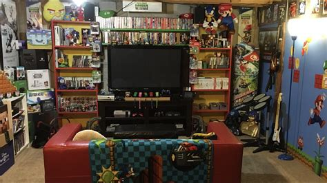Retro Video Game Room Tour Huge Nes Cib Collection Youtube