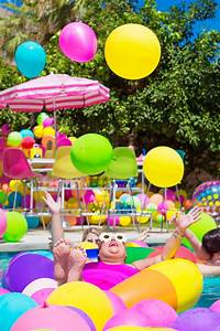 An Epic Rainbow Balloon Pool Party - Studio DIY