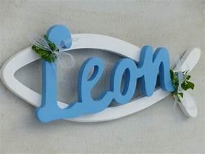 Deko Taufe Junge : dekoration taufe kommunion fisch mit name dekoration ein designerst ck von leroe bei dawanda ~ Watch28wear.com Haus und Dekorationen