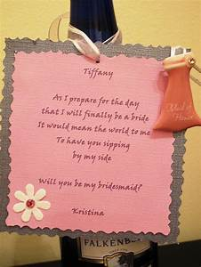 will you be my bridesmaid diy mission accomplished With bridesmaid letter