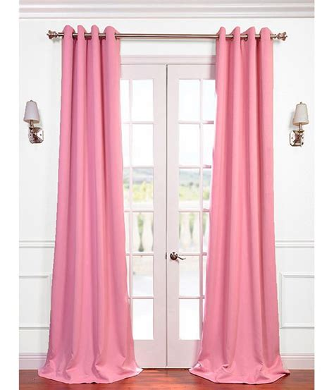 precious pink grommet blackout curtain pink and grey