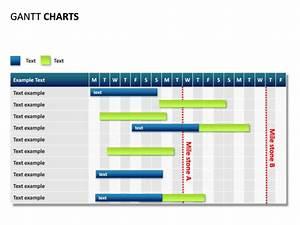 powerpoint slide gantt chart 19 days 2 milestones With milestone chart templates powerpoint