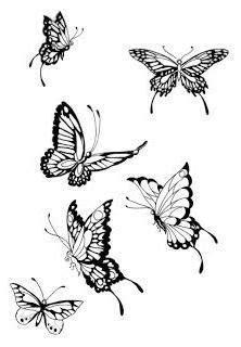 Butterfly Drawing - Tattoos Half Sleeve Tattoos For Women: Butterfly Tattoos for Women… in 2020
