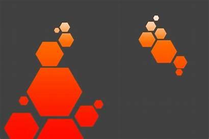 Abstract Modern Hexagon Pattern Circle Wall Desktop