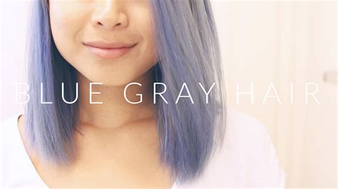 blue gray hair lavender ombre extensions