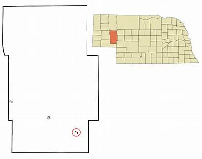 Nebraska Svg Lewellen Incorporated Highlighted Unincorporated Areas