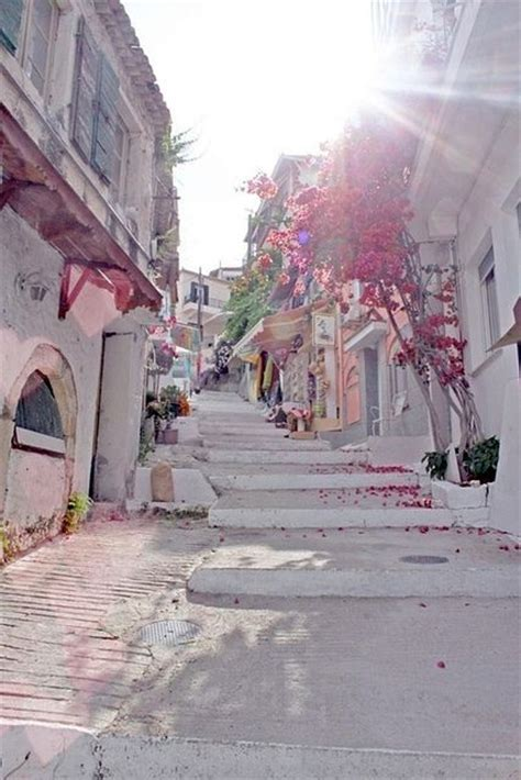 Santorini Street Greece Dream Vacations Pinterest