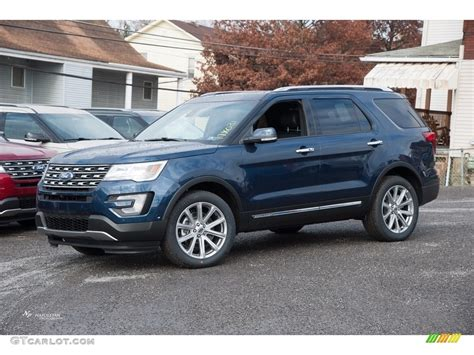 2017 Blue Jeans Ford Explorer Limited 4wd #117365870 Photo