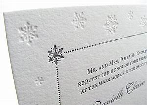 customized winter wedding invitations digby rose With letterpress snowflake wedding invitations