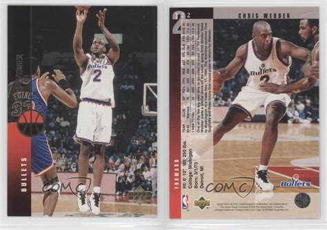 Maybe you would like to learn more about one of these? 1994-95 Upper Deck #322 Chris Webber Washington Bullets Basketball Card   eBay