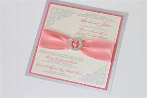 coral pink wedding invitation invitation card designs With blank coral wedding invitations