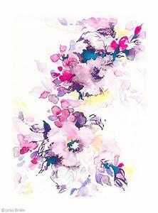 Bright watercolor, flower art, watercolor flower print ...