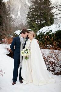 a snowy winter wedding with a jenny packham muscari dress With winter wedding bridesmaid dresses