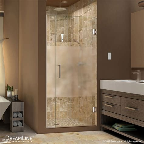 frosted shower doors unidoor plus half frosted glass shower door