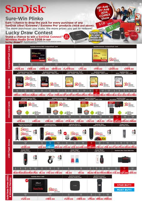 SanDisk - Page 1 Brochures from COMEX 2014 Singapore on ...