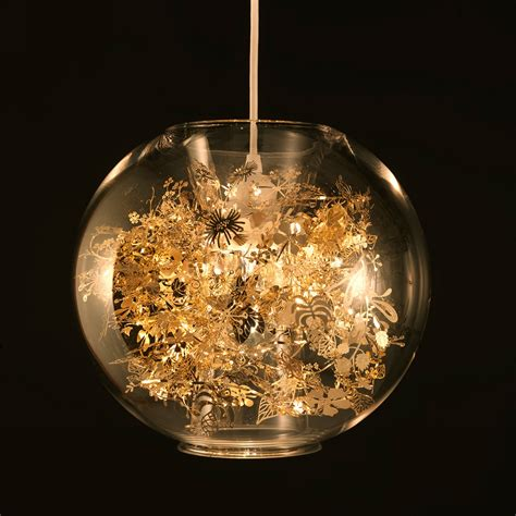 Globe Chandelier Lighting by Gold Mercury Glass Fluted Pendant Light Mini Hanging Globe