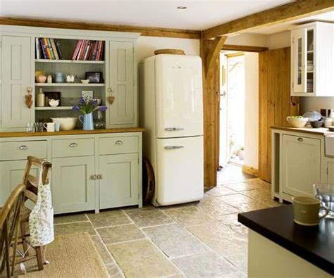 country kitchen tv smeg fridge and dresser in a country kitchen house 2917