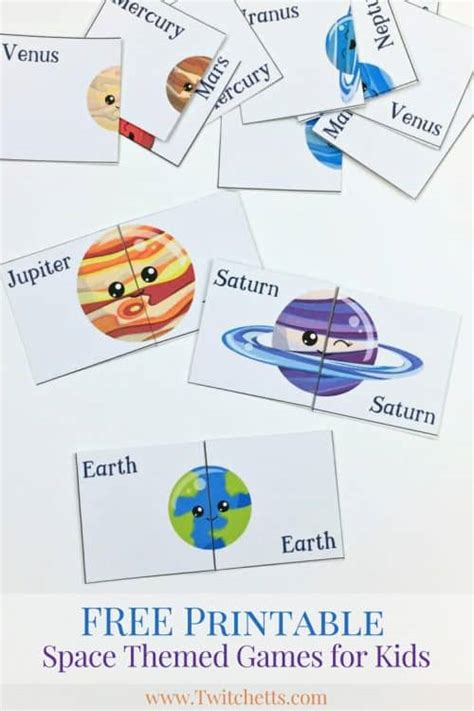 printable space themed games solar system
