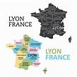 Lyon Map 165148 Vector Art at Vecteezy