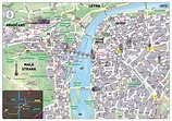 Prague attractions map - Prague main attractions map ...