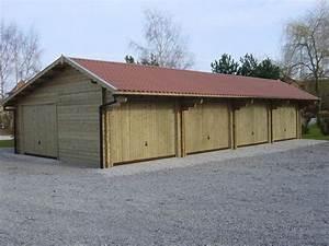 construction garage bois sur mesure toit plat autoclave With construire garage en bois