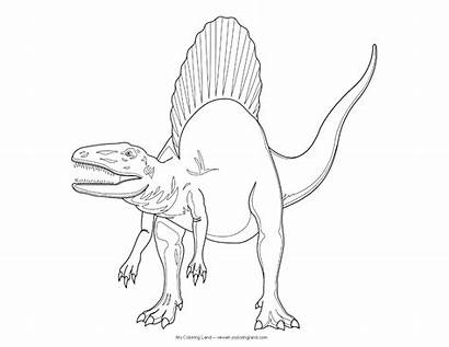 Spinosaurus Coloring Dinosaur Pages Printable Jurassic Park