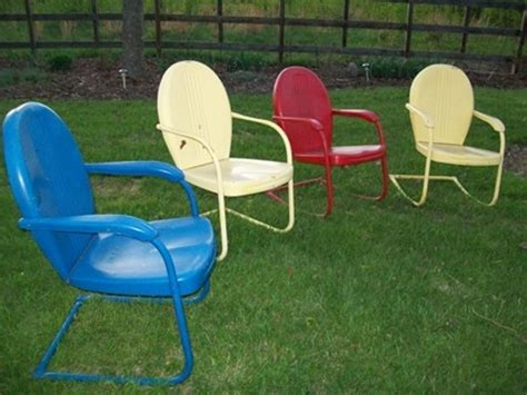retro metal lawn chairs vintage for children