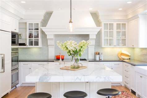 shaped kitchen  island transitional kitchen