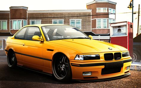 Bmw M3 Yellow Car Full Hd Wallpaper  4k Cars Wallpapers