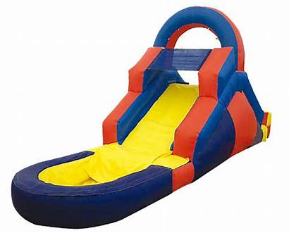 Slide Water Clip Inflatable Clipart Blow Slides
