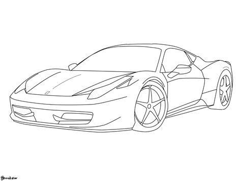 ferrari drawing ferrari 458 italia lineart by etonadler on deviantart