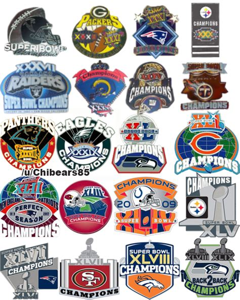 Every Super Bowl Losing Teams Unused Winning Logo From The