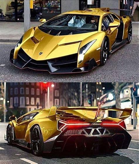 Golden Lamborghini Veneno  Lamborghini Pinterest