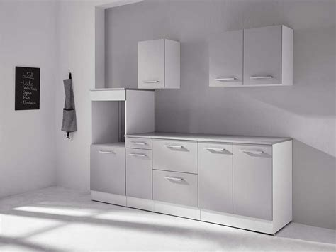 conforama accessoires cuisine bloc cuisine 240 cm greta 3 blanc gris vente de les