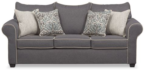 Loveseat Lounge by Carla Sofa Gray Value City Furniture And Mattresses