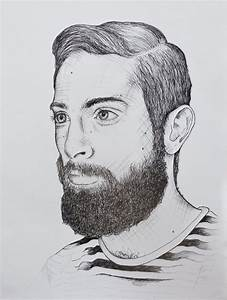 Illustration Drawing Fineliner Man Beard Marleen Annema ...
