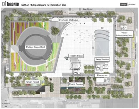 Nathan Phillips Square Revitalization project map   www ...