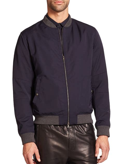 light bomber jacket mens lyst vince lightweight bomber jacket in blue for men