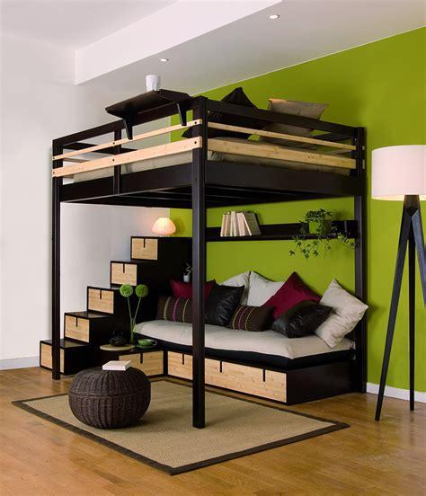 lit mezzanine 1 place avec bureau conforama programme brick escaliers escalier brick