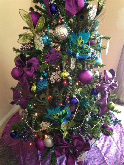 peacock christmas tree 2013 holiday decorating pinterest