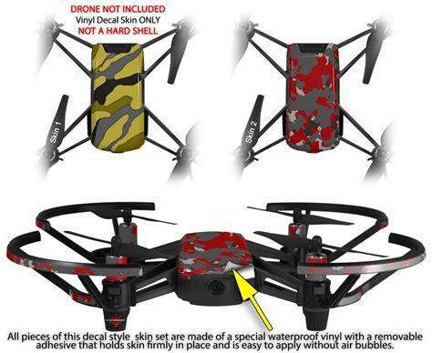 dji ryze tello drone skins camouflage yellow wraptorskinz