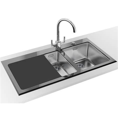neptune kitchen furniture franke kubus kbv 651 black glass 1 5 bowl inset kitchen