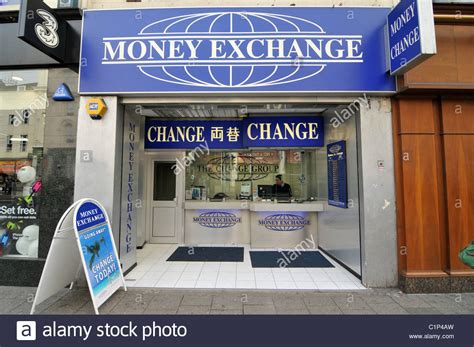 money exchange cambio bureau de change travel money stock photo royalty free image