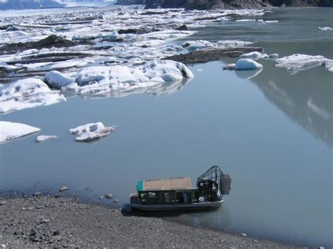 Airboat Knik Glacier by Airboat Tour To The Of The Knik Glacier Nearby