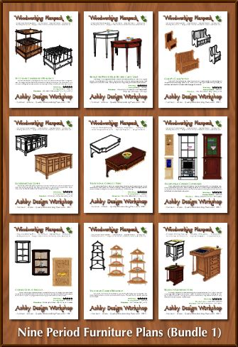 period furniture plans bundle  woodworking