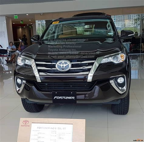Time to roll the dice and go where the road takes you. Toyota Fortuner 2017 - Car for Sale Metro Manila