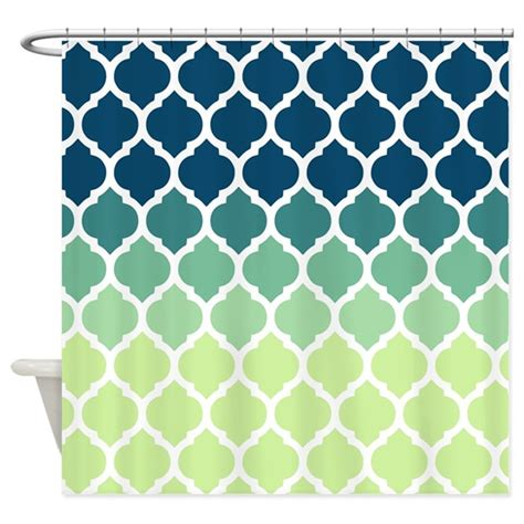moroccan shower curtain blue green moroccan lattice shower curtain by doodles design